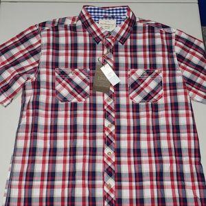 Weatherproof Vintage Garnet Plaid Button Shirt